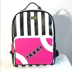 Luv Betsey By Betsey Johnson Football Backpack NWT